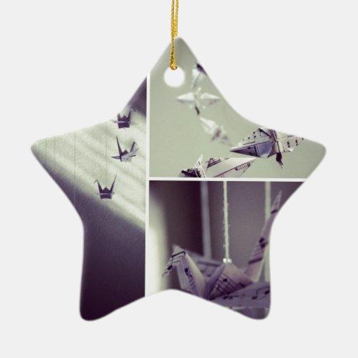 music notes origami crane mobile ornament zazzle