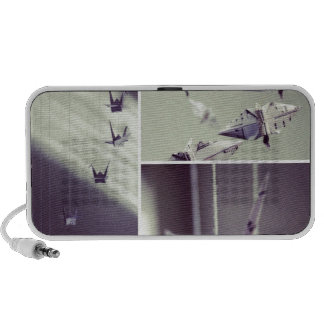 Music Notes Origami Crane Mobile Travel Speaker