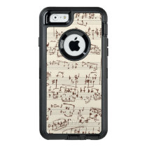 Music notes OtterBox defender iPhone case