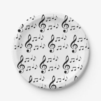 """""""Music Notes"""" Paper Plates"""