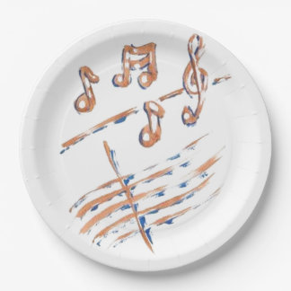 MUSIC NOTES PAPER PLATES 9INCH 9 INCH PAPER PLATE