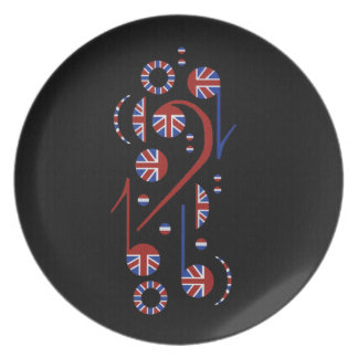 Music Notes Pate Plates