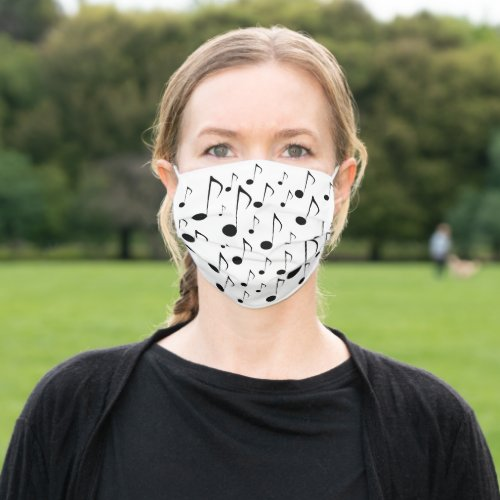 Music Notes Pattern Cloth Face Mask