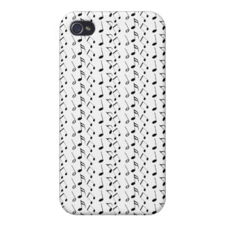 Music Notes Pattern iPhone 4 Case