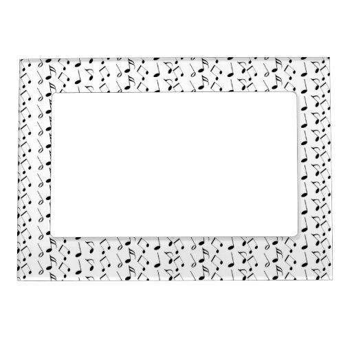 Music Notes Pattern Picture Frame Magnets