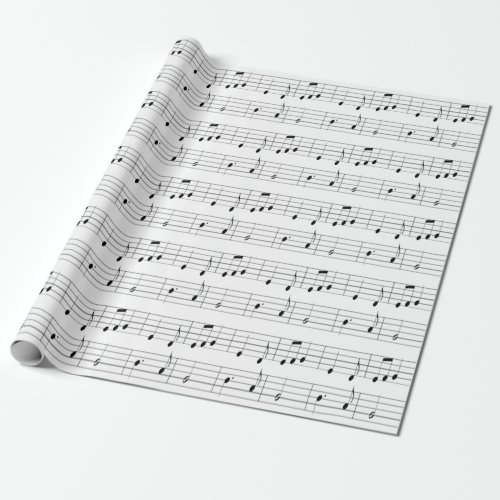 Music Notes Pattern Wrapping Paper