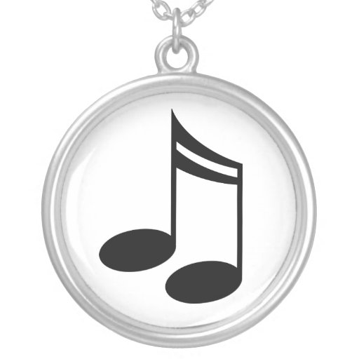 Music Notes Pendant Jewelry Gift