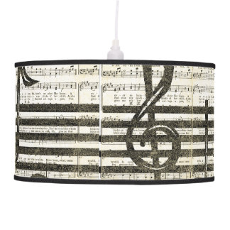 Music Notes Pendent Lamp