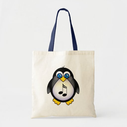 Music Notes Penguin Gift Tote Bags