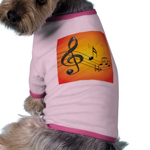 Music Notes Pet Clothing