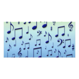 Music notes photo card