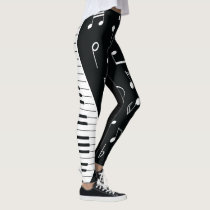 Music Notes & Piano Keys Leggings