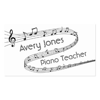 Music Notes Piano Teacher Business Card