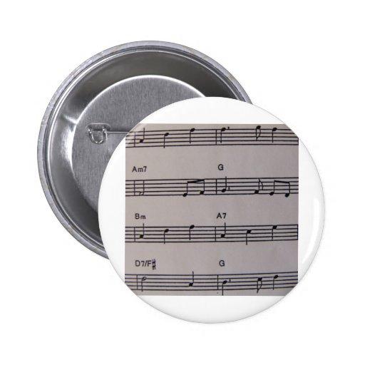 Music Notes Pin