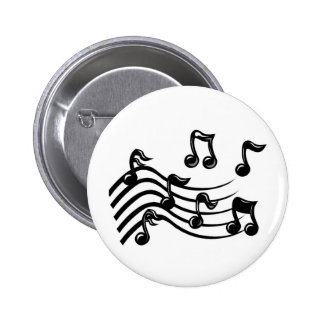 music notes pinback button