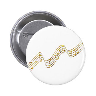 music notes pinback buttons