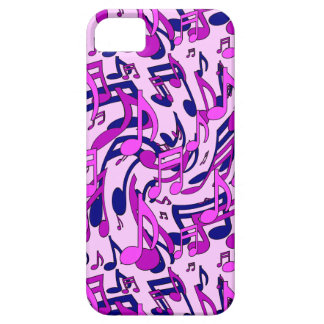 Music Notes Pink Blue Purple Musical Pattern iPhone SE/5/5s Case