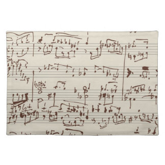 Music notes placemats