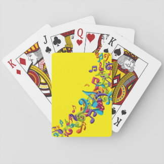 Music Notes Playing Cards