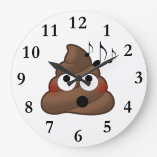 Poop Wall Clocks Zazzle