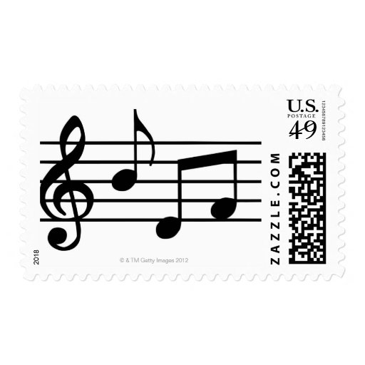 Music Notes Postage Stamps