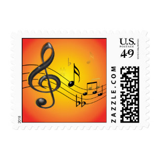 Music Notes Postage