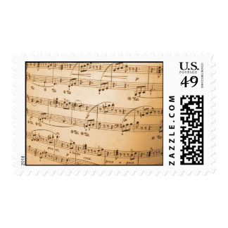 Music Notes Postage Stamp