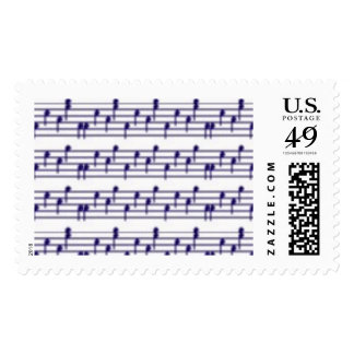 music notes postal stamps postage