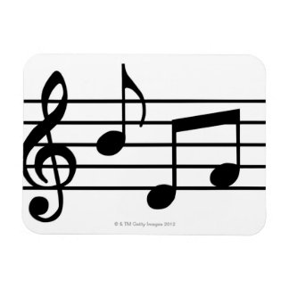 Music Notes Rectangular Photo Magnet