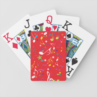 Music notes / red background jumbo playing cards
