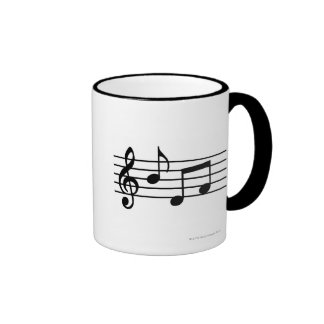 Music Notes Ringer Mug