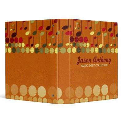 Music Notes Sheet Collection Album Binder binder