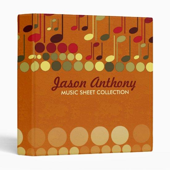 Music Notes Sheet Collection Album Binder