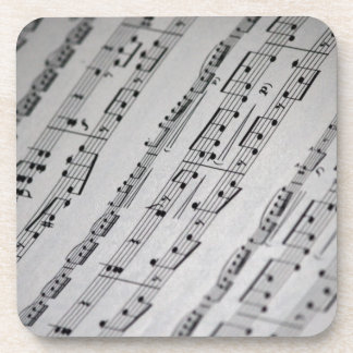music notes sheet music drink coaster