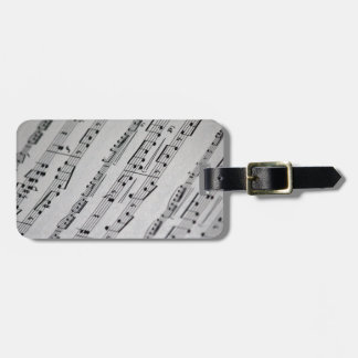 music notes sheet music luggage tag