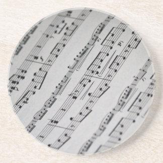 music notes sheet music sandstone coaster