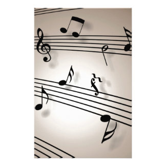 Music Notes - Sheet Music Stationery