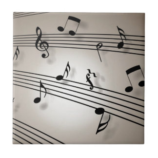 Music Notes - Sheet Music Tile