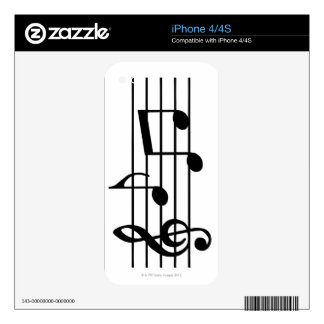 Music Notes Skins For The iPhone 4S