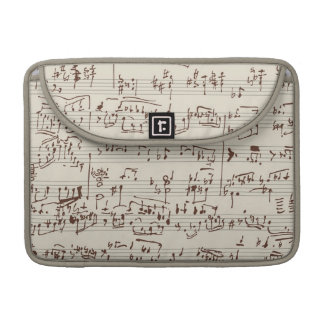 Music notes sleeve for MacBook pro