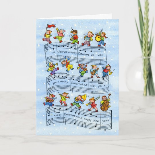 Music notes song for kids christmas greeting card zazzle music notes song for kids christmas greeting card m4hsunfo