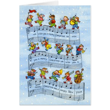 Christmas Themed Music Notes Song for Kids-Christmas Greeting Card