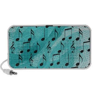 Music notes mini speaker