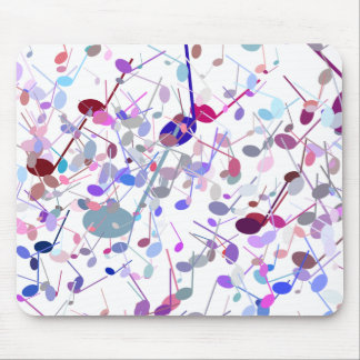 Music Notes Splatter Mouse Pad