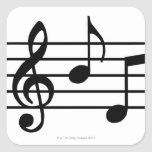 Music Notes Square Sticker