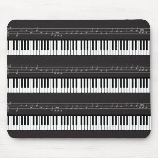 Music Notes Staff Keyboard or Piano Keys Mouse Pad