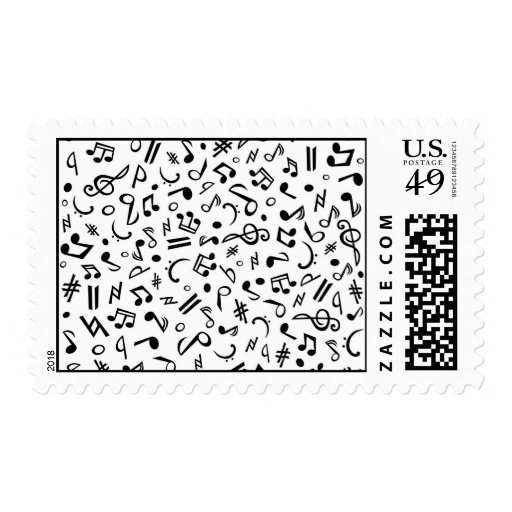 music notes stamp