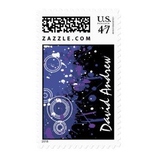 Music Notes Stars Bar Bat Mitzvah Stamp Postage