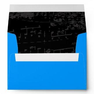 Music Notes Stars Bat Mitzvah Invitation Envelope