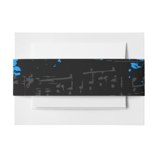 Music Notes Stars Customizable Wrap Band Invitation Belly Band